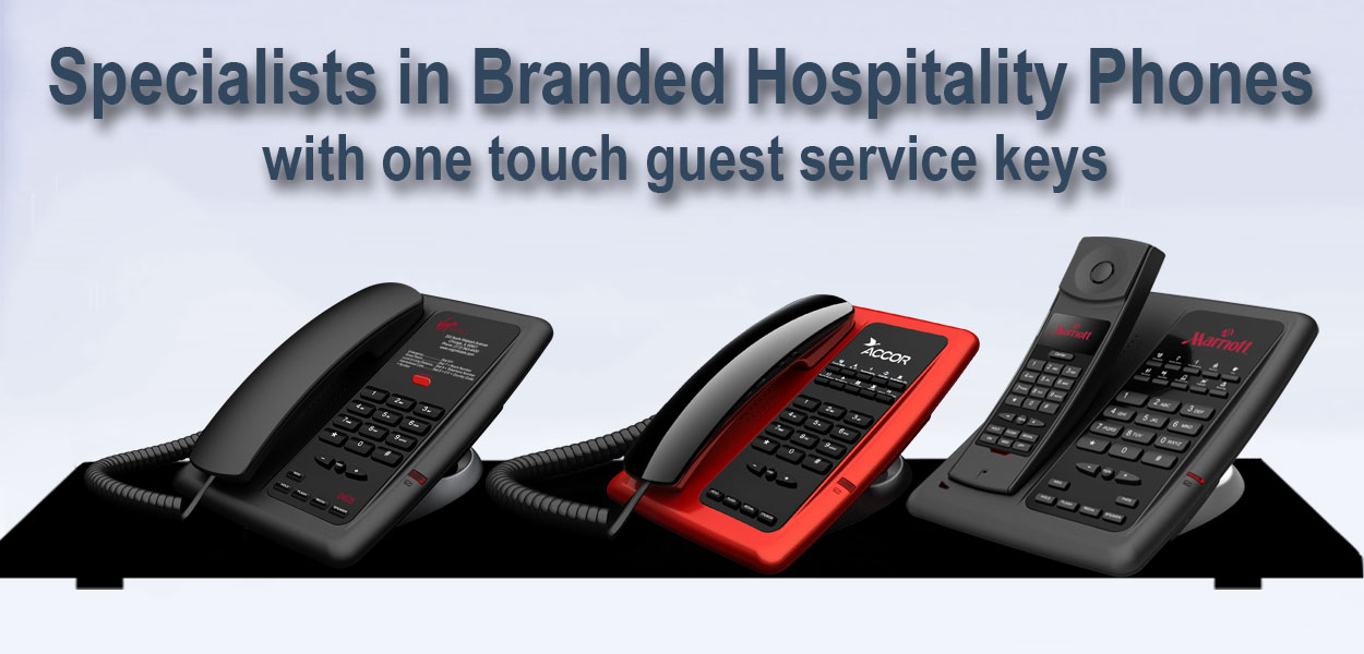 Branded Hotel Telephones with faceplates Hotel Technology International