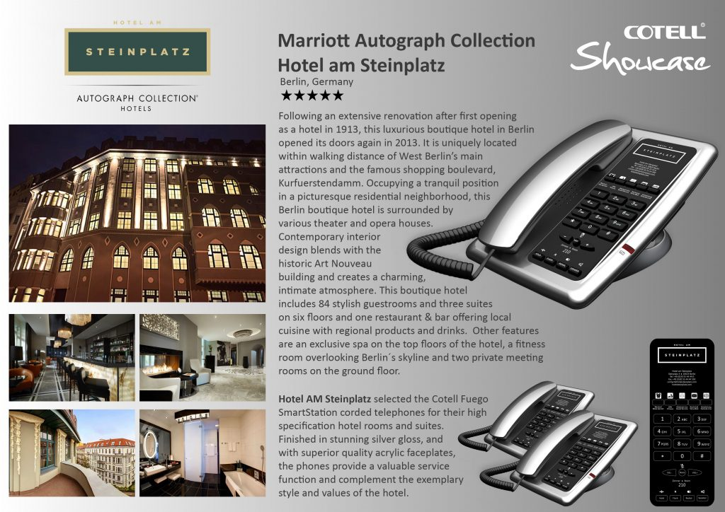Marrott Autograph Collection Hotel Hotel Technology International case study