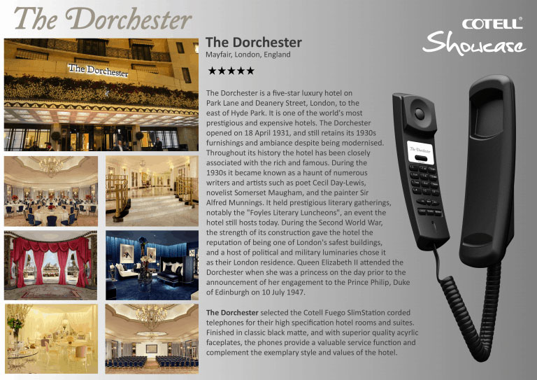 The Dorchester Hotel Hotel Technology International case study