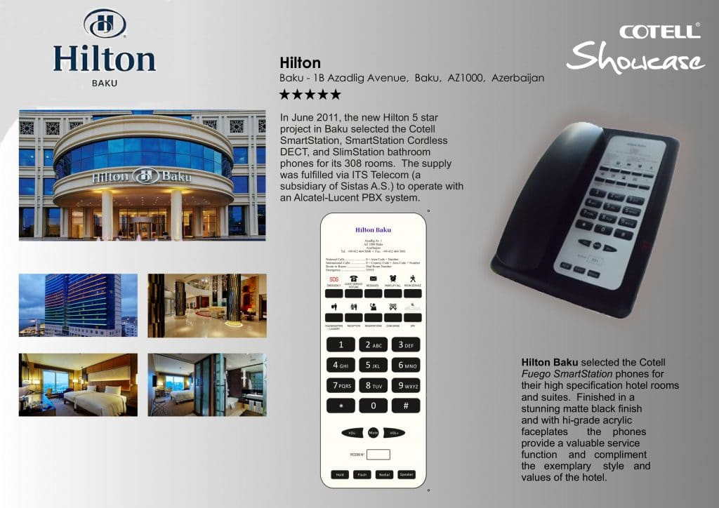 Hilton Baku Hotel Hotel Technology International case study