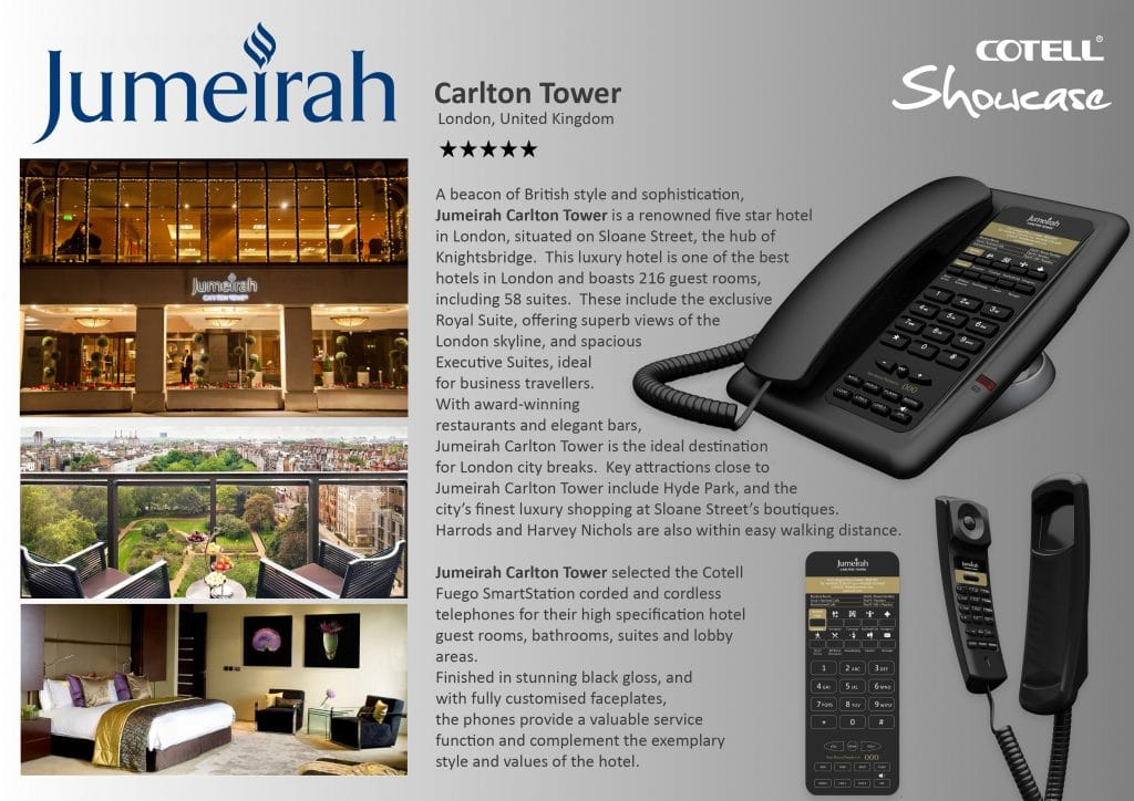 Juemeirah Carlton Tower Hotel Technology International Case Study