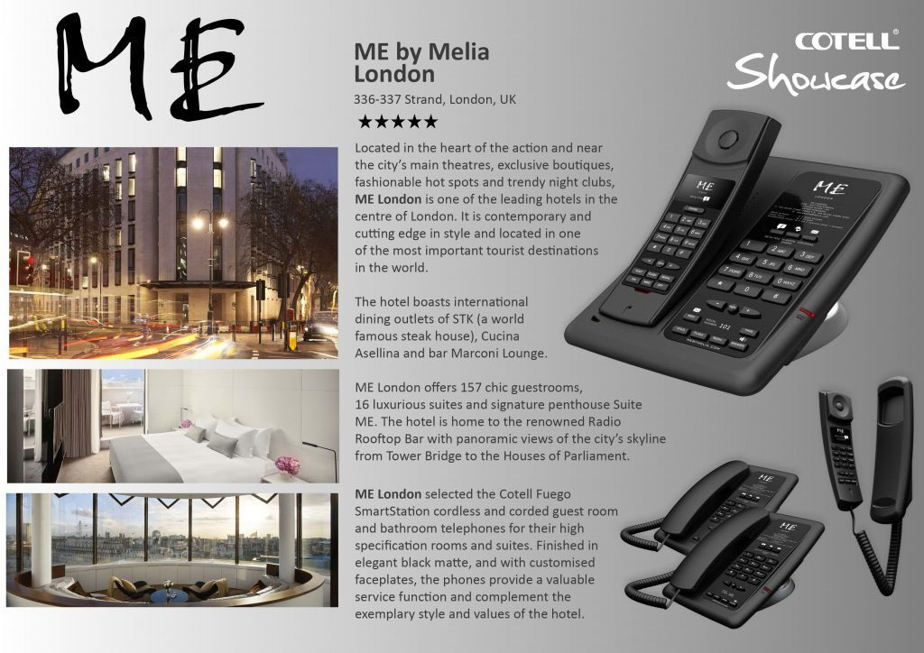 Me by Melia London Hotel Technology International case study