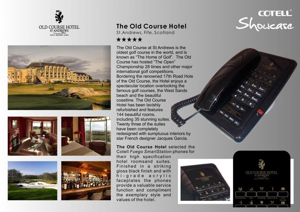 The Old Course Hotel St Andrews Hotel Technology International Case Study