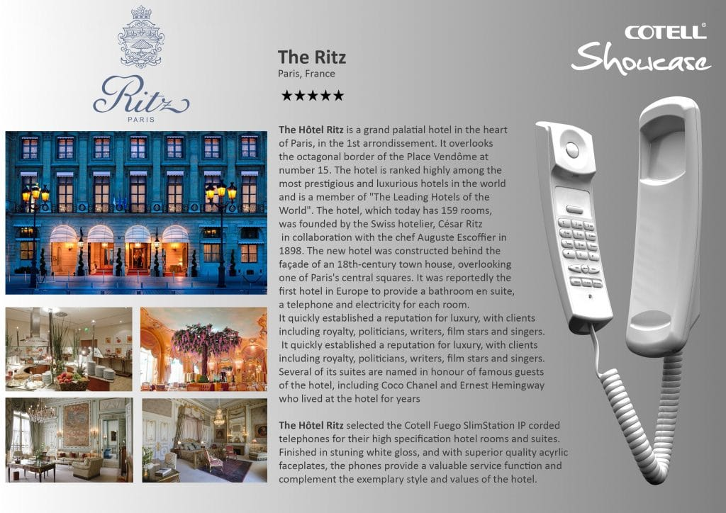 Ritz France Hotel Hotel Technology International Case Study