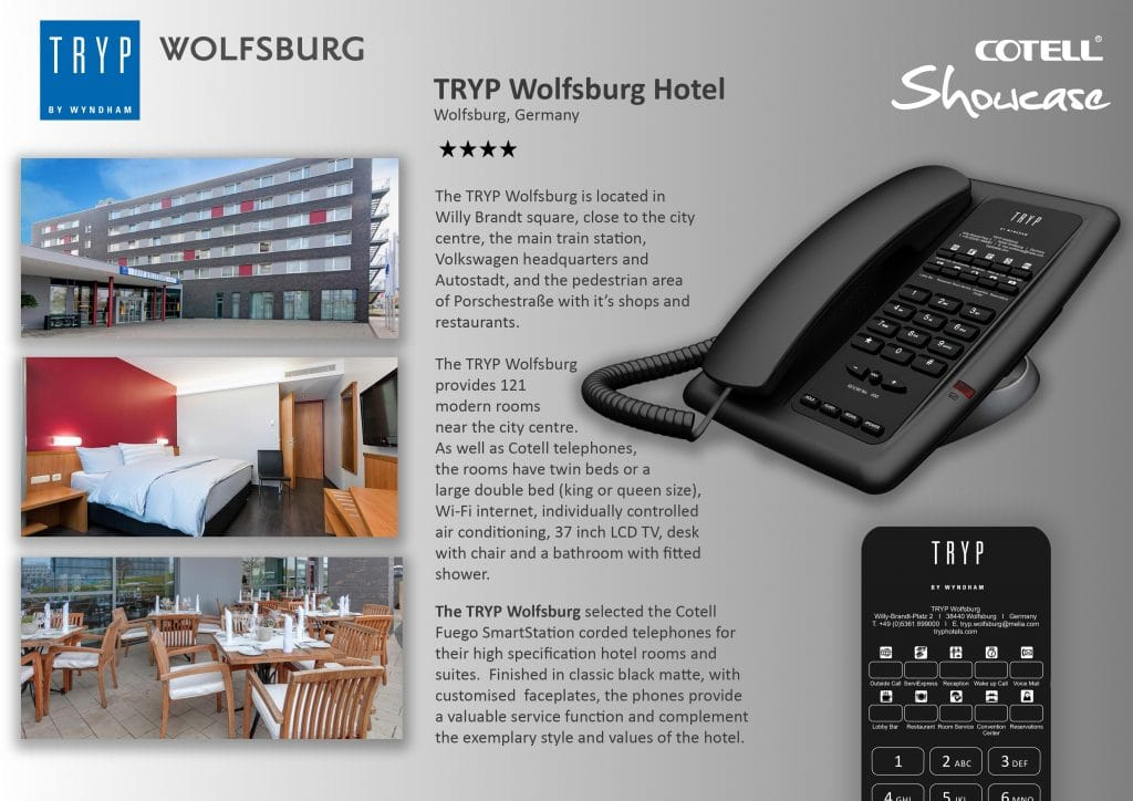 Tryp Wolfsburg Hotels Hotel Technology International Case Study