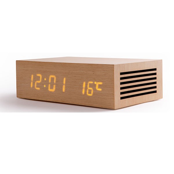 Wood Echo clock for hotels Hotel Technology International